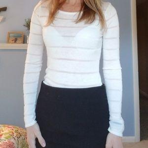 Express white sweater shirt. Size small.